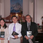 (Left to Right) Huong Kiev, Pastor Thanh, Tin Kiev