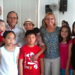 Children welcomed into the orphanage with Tin & Huong